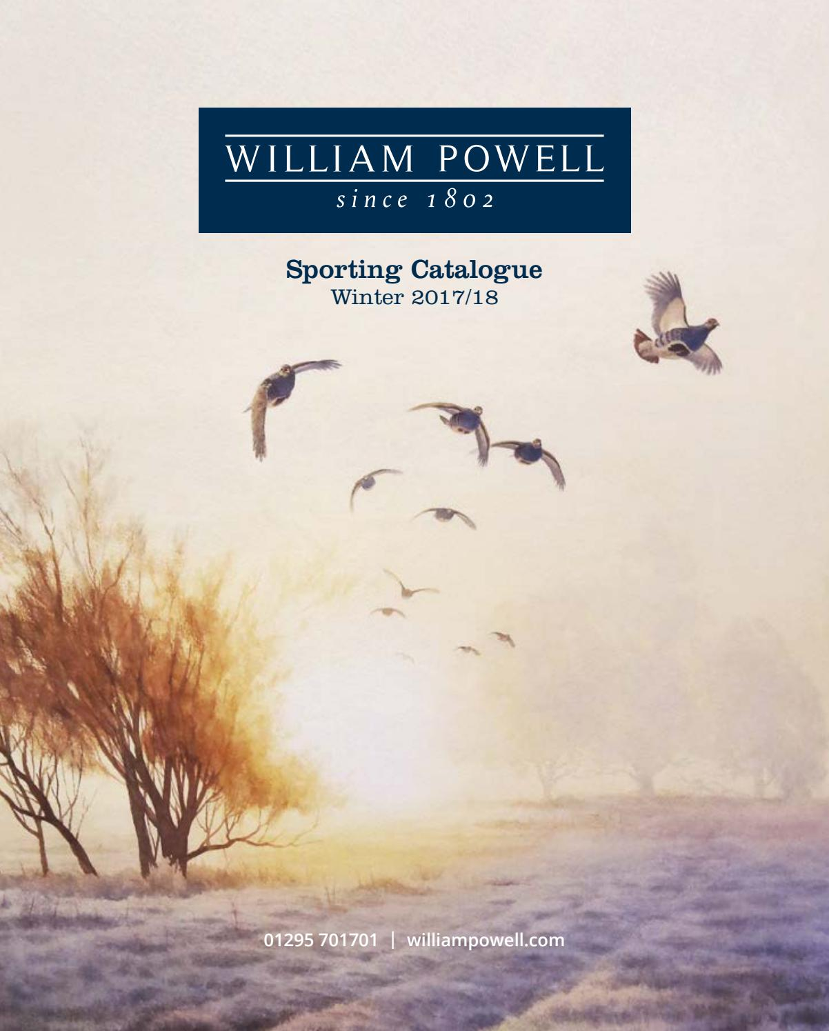 e79c5583023 William Powell Sporting Catalogue - Winter 2017 18 by William Powell ...