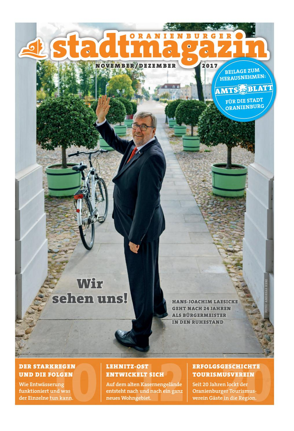 Oranienburger Stadtmagazin (Oktober/November 2017) by Stadt ...