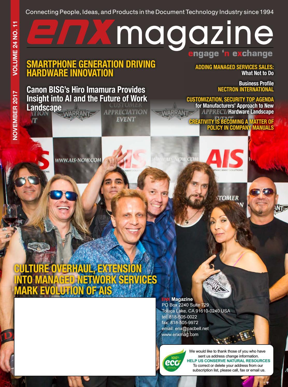 ENX Magazine November 2017 Issue by ENX Magazine - issuu