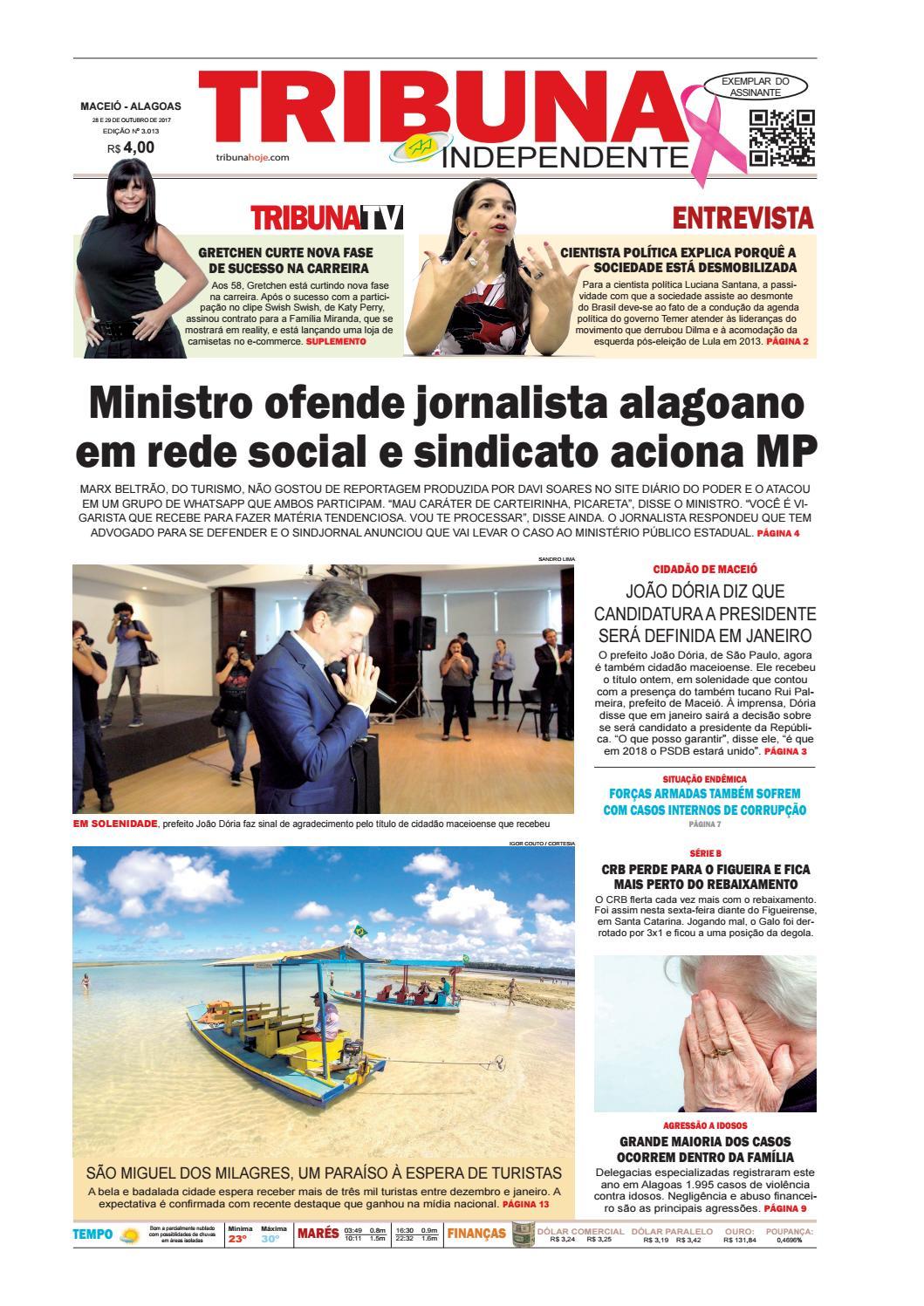 Edição número 3013 - 28 e 29 de outubro de 2017 by Tribuna Hoje - issuu 61e3f1f754