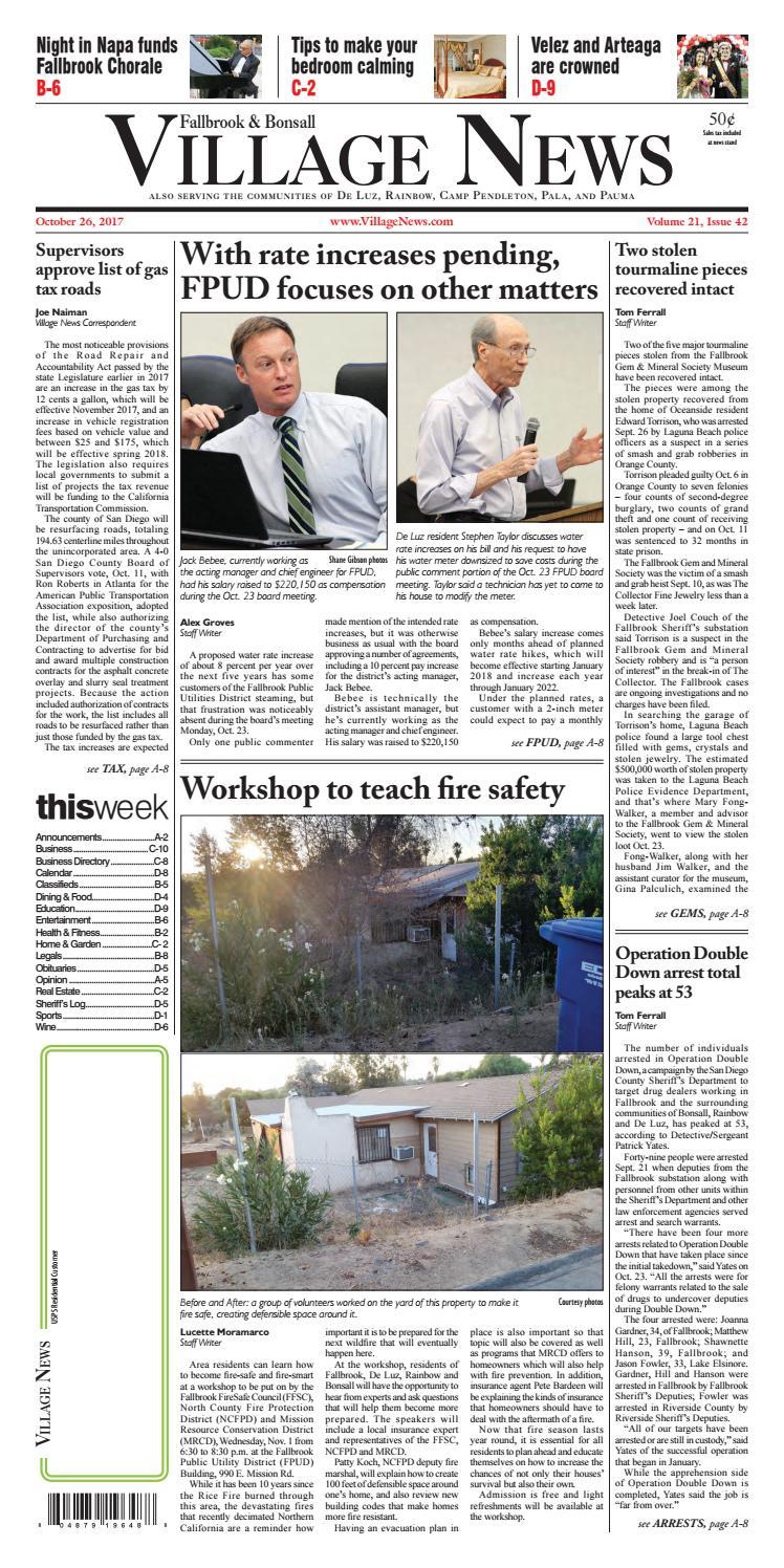 Fallbrook Village News by Village News, Inc  - issuu