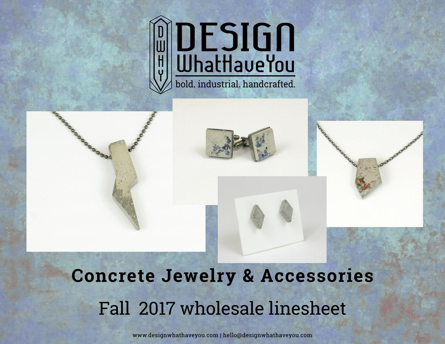 DWHY Fall 2017 Concrete Jewelry Linesheet