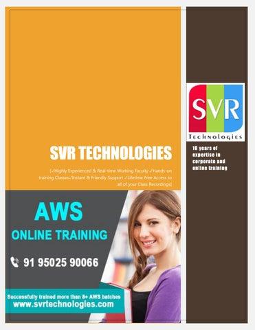 Amazon Web Services Trainiin - SVR Technologies