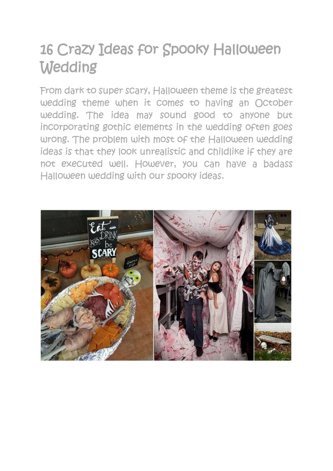 Contemporary Halloween Wedding Theme Composition - The Wedding Ideas ...