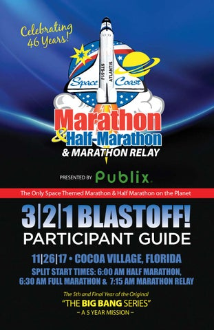 Space Coast Marathon & Half Marathon Participant Guide 2017