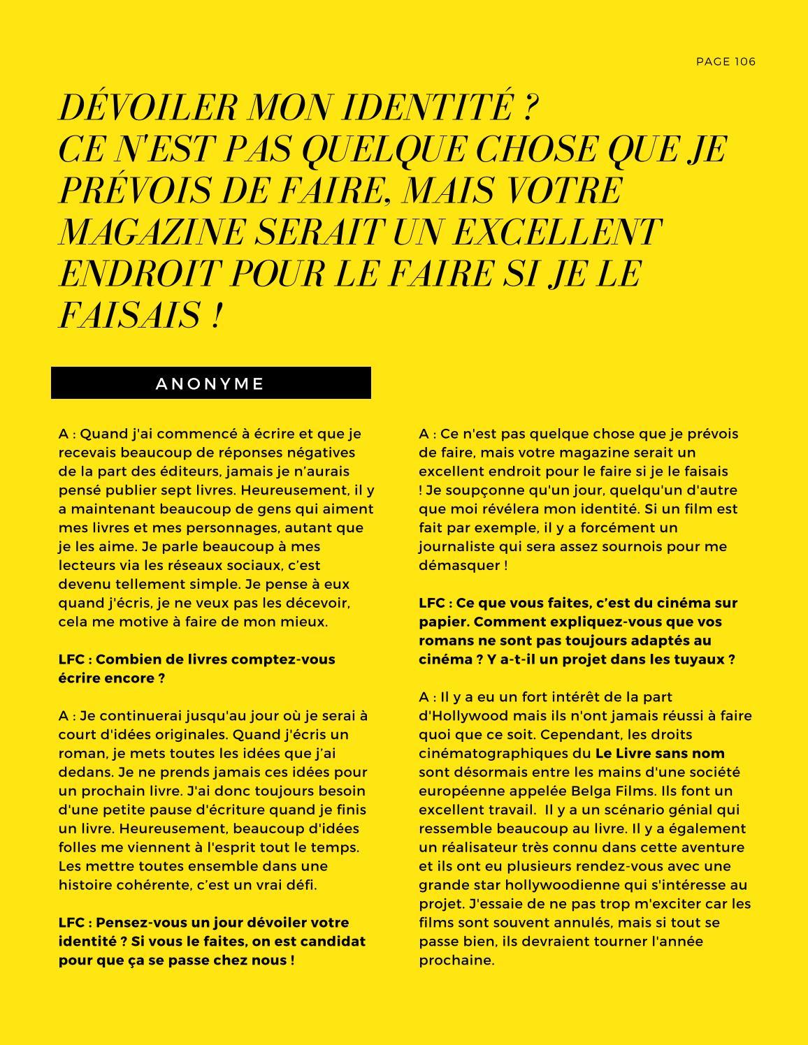 Mais Ou Sont Passé Les Tuyaux lfc magazine #3 michel bussi octobre 2017la fringale