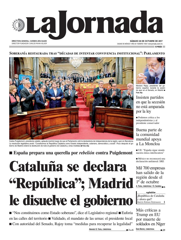 f57f4dce7 La Jornada, 10/28/2017 by La Jornada - issuu