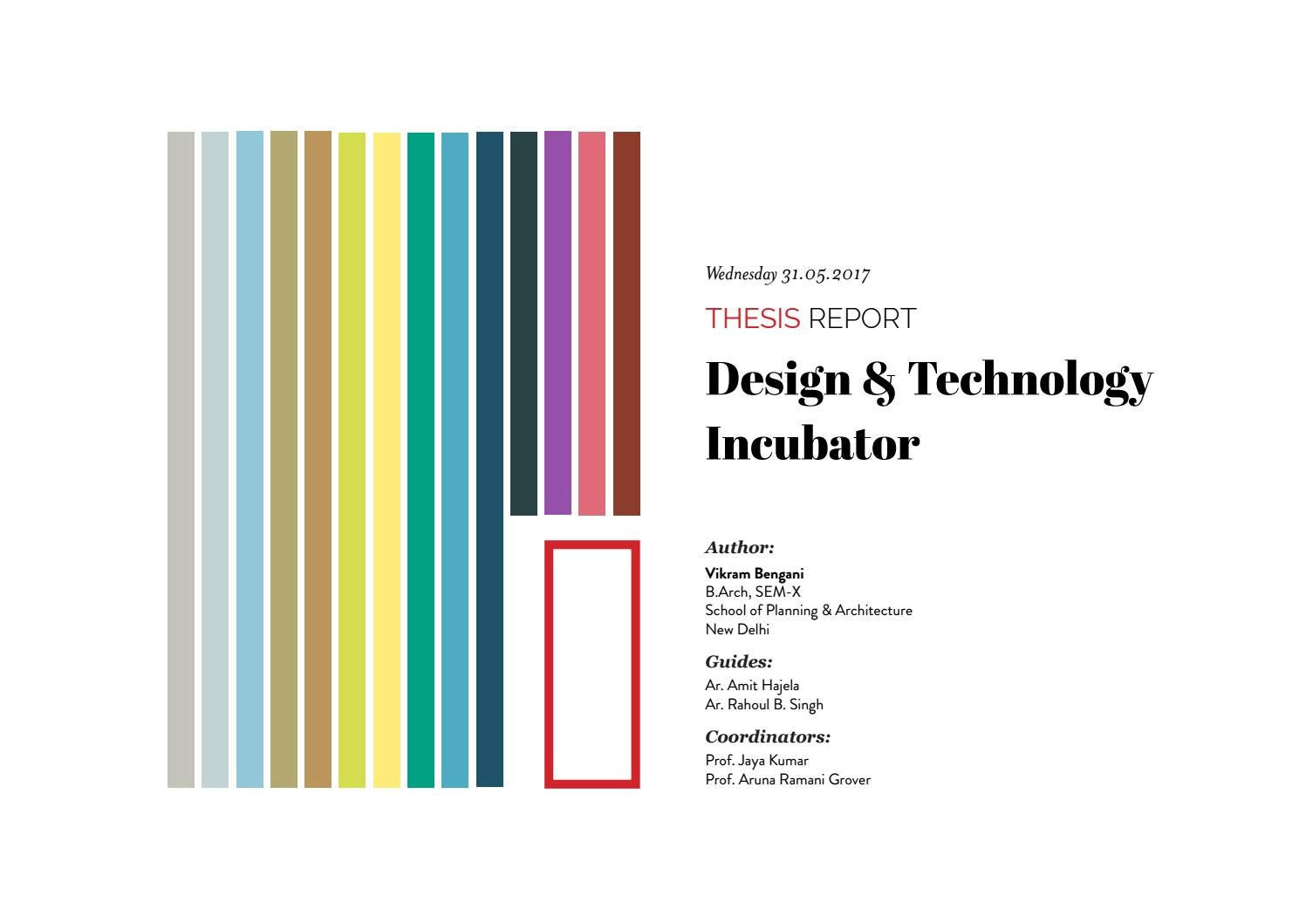 Design Thesis Technology Incubator By Vikram Bengani Issuu Piping Layout Course In Delhi