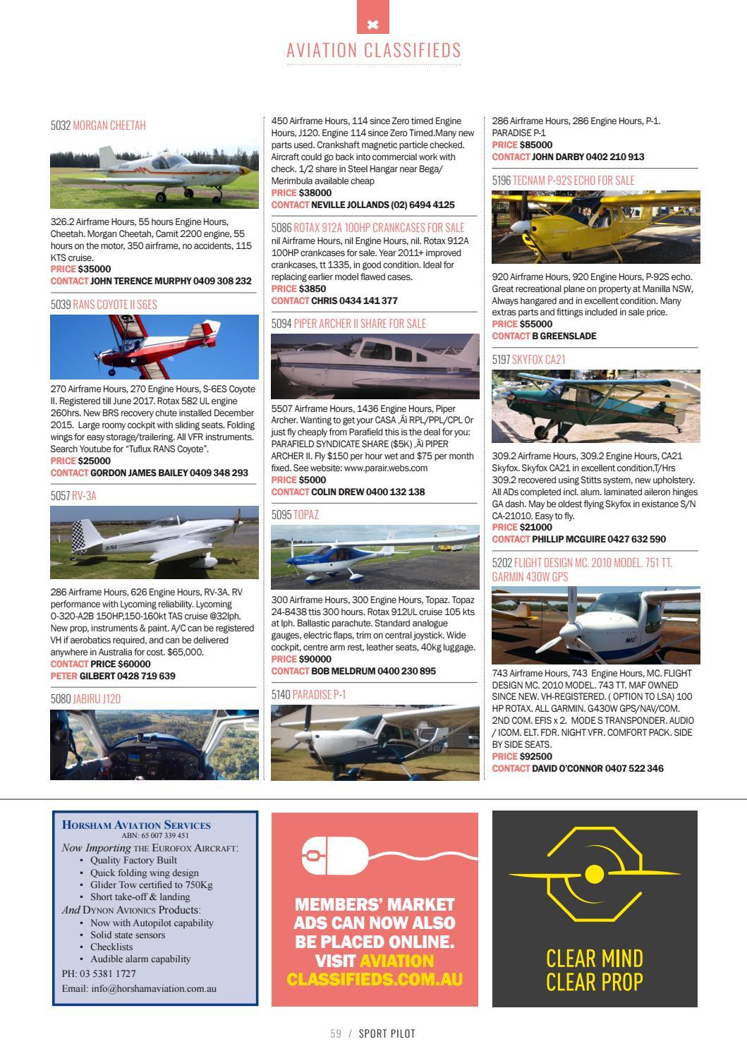 Sport pilot 75 nov 2017 by Recreational Aviation Australia - issuu