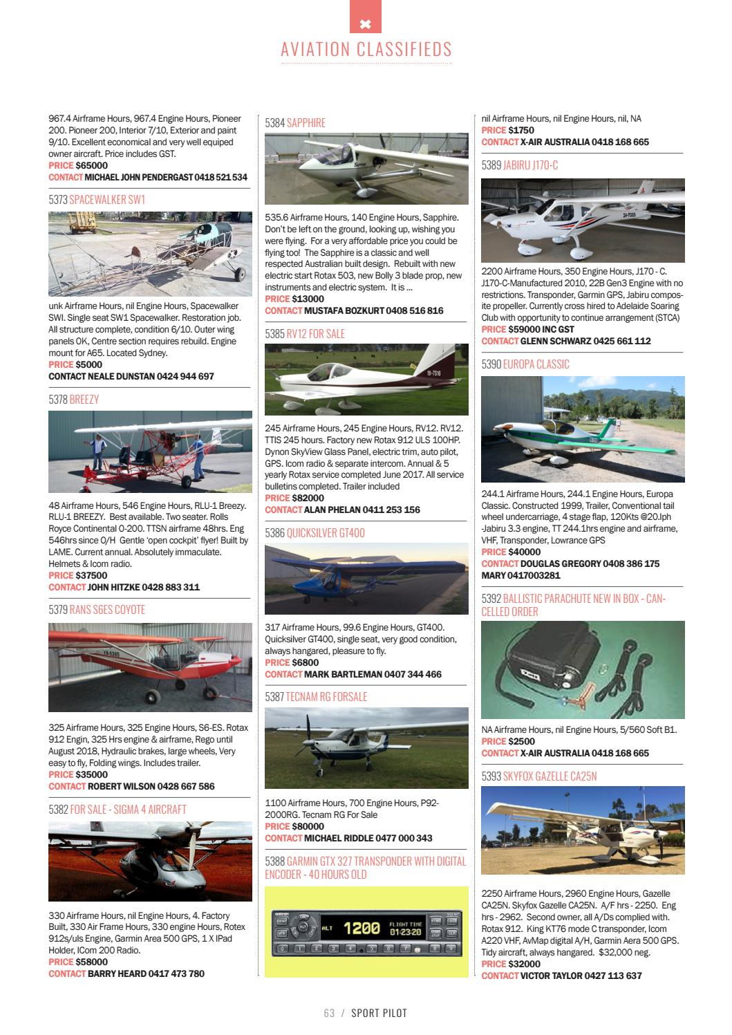 Sport pilot 75 nov 2017 by Recreational Aviation Australia