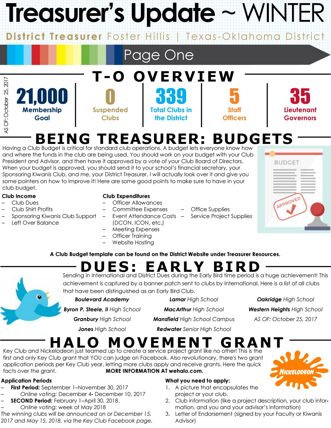 Winter Newsletter By Texas Oklahoma District Treasurer Issuu