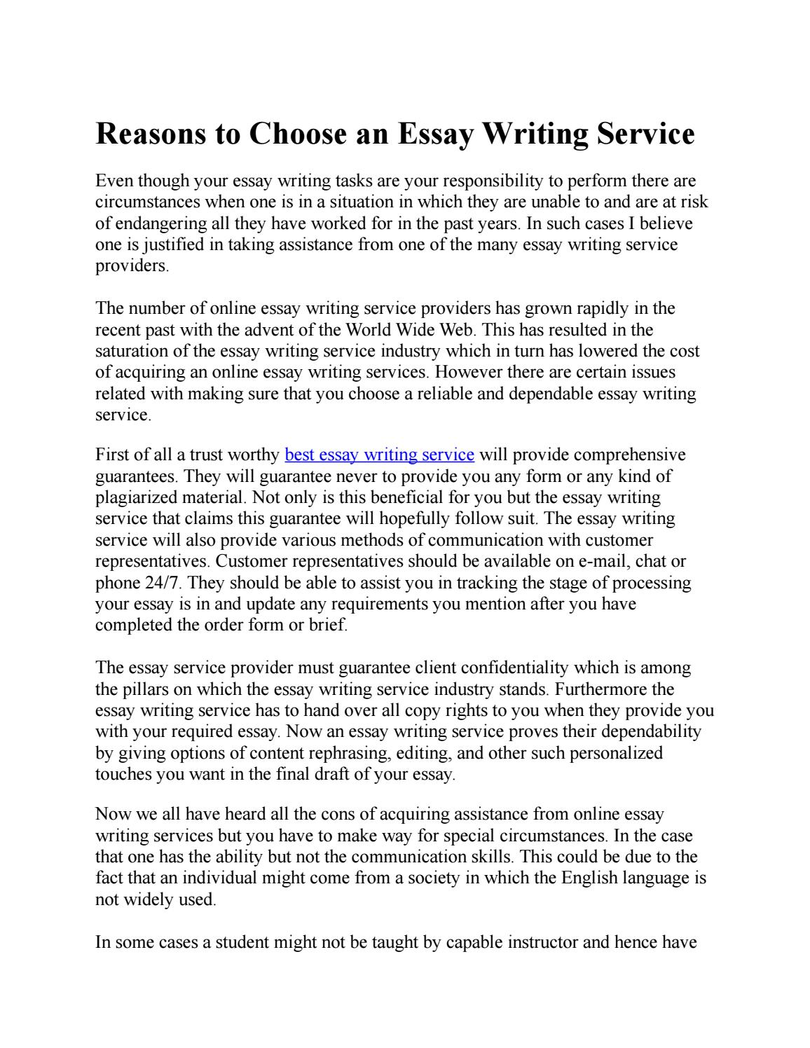 Original essay writing service