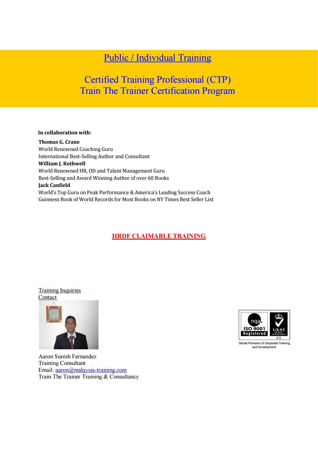 Train The Trainer Training Courses Malaysia By Training Courses