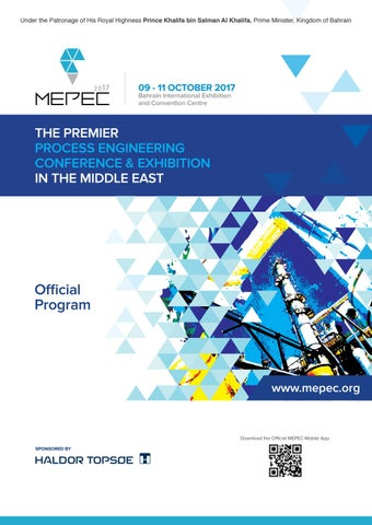 Middle East Process Engineering Conference 2017 by Hannah Capstick