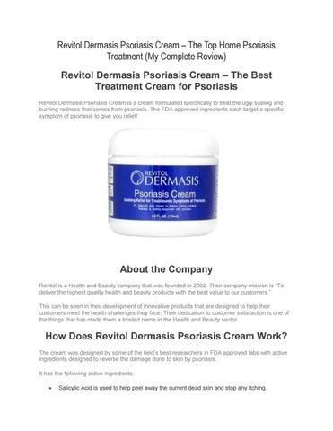 Revitol Dermasis Psoriasis Cream Review By Mike Walker Issuu