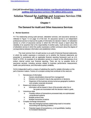 Audit And Assurance Pdf