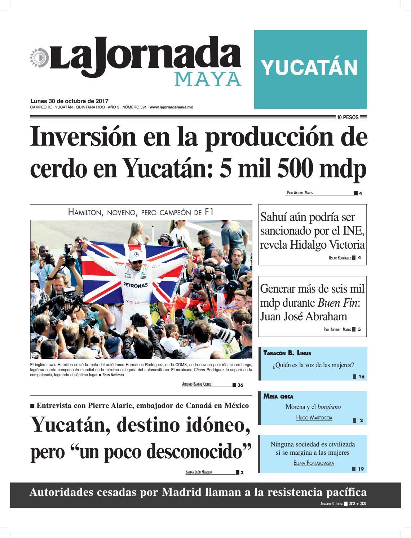 La jornada Maya · lunes 30 de octubre de 2017 by La Jornada Maya - issuu