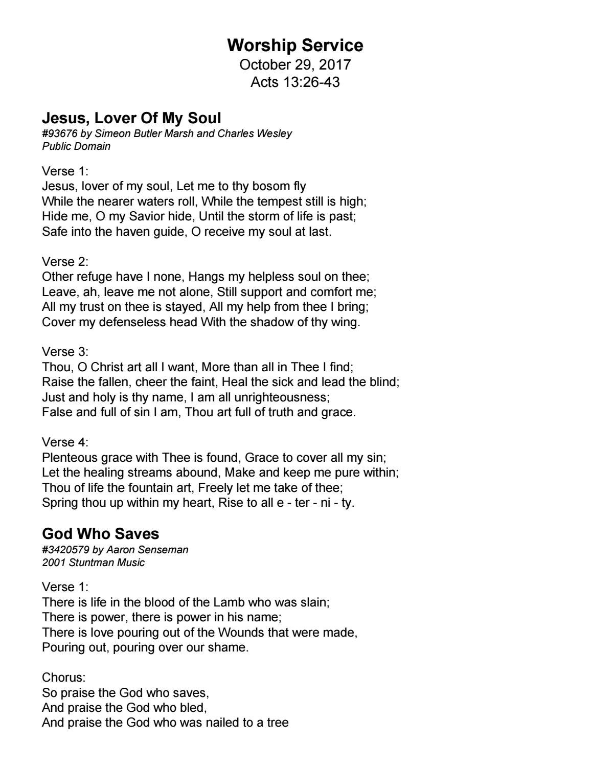 Song Lyrics from 10 29 17 Liturgy by Trinity Presbyterian Church - issuu