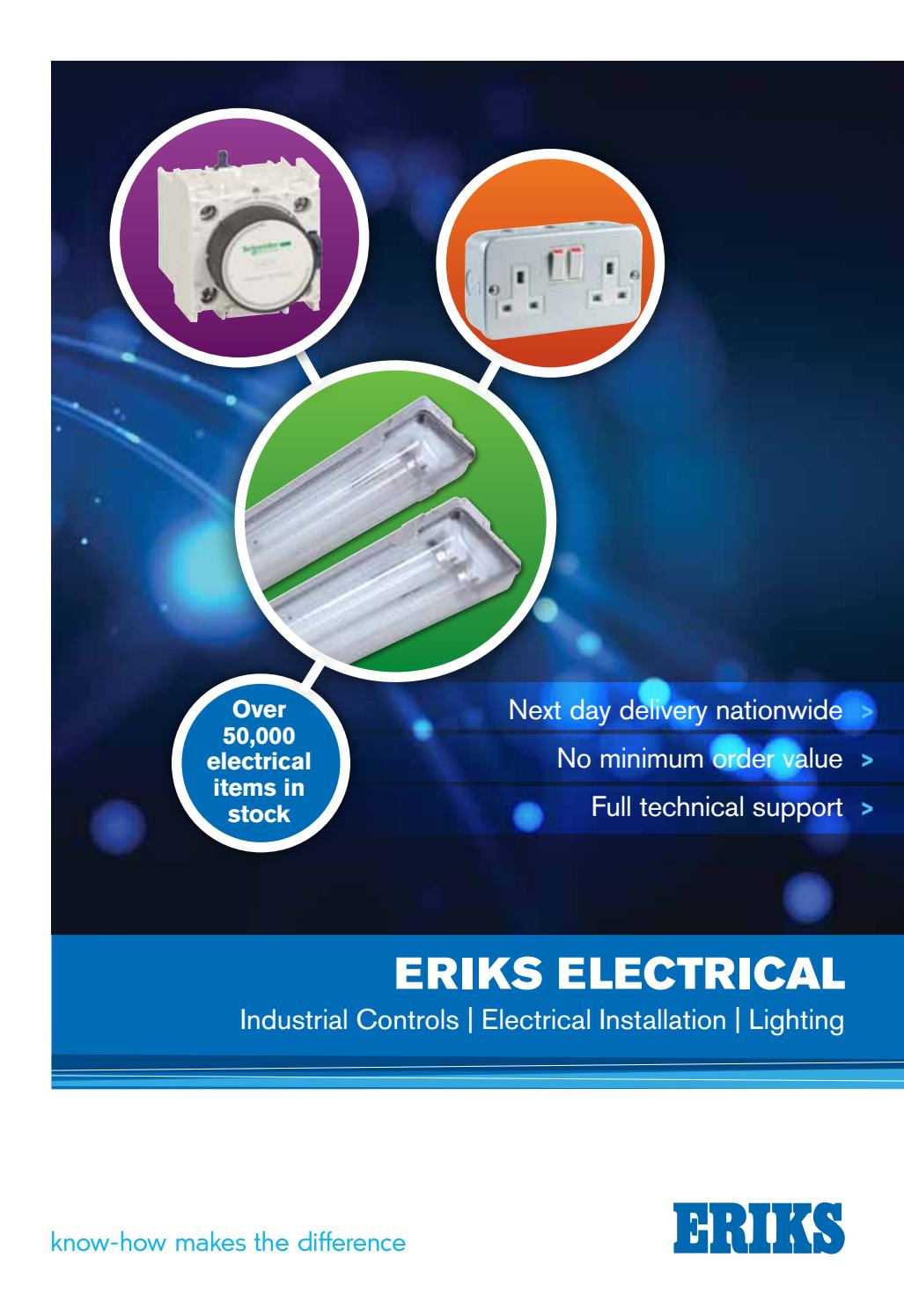 Industrial Electrical Catalogue Issue 7 By Eriks Uk Ireland Issuu Mk Logic Plus White 50a Dp Pull Cord Ceiling Switch Pilot Light