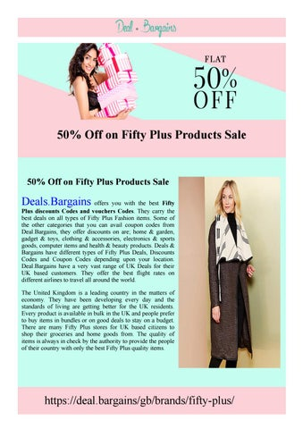 fifty plus voucher codes best fifty plus fashion discount codes by