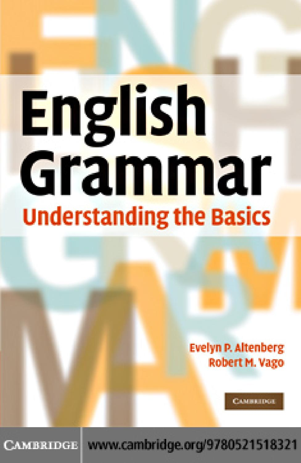 English Grammar Understanding Basics By Ivanilton Gomes