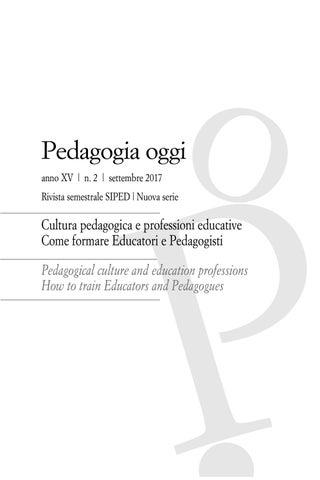 Pedagogia oggi 2 17 by Pensa Multimedia - issuu e84286440a18