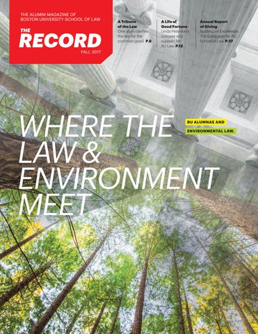The Record, Fall 2017 by Boston University School of Law - issuu