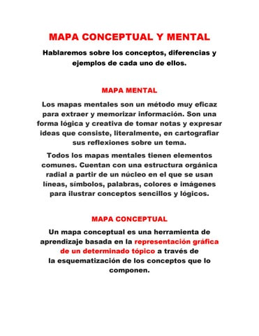 Mapa Conceptual Y Mental Pdf By Jrey Issuu