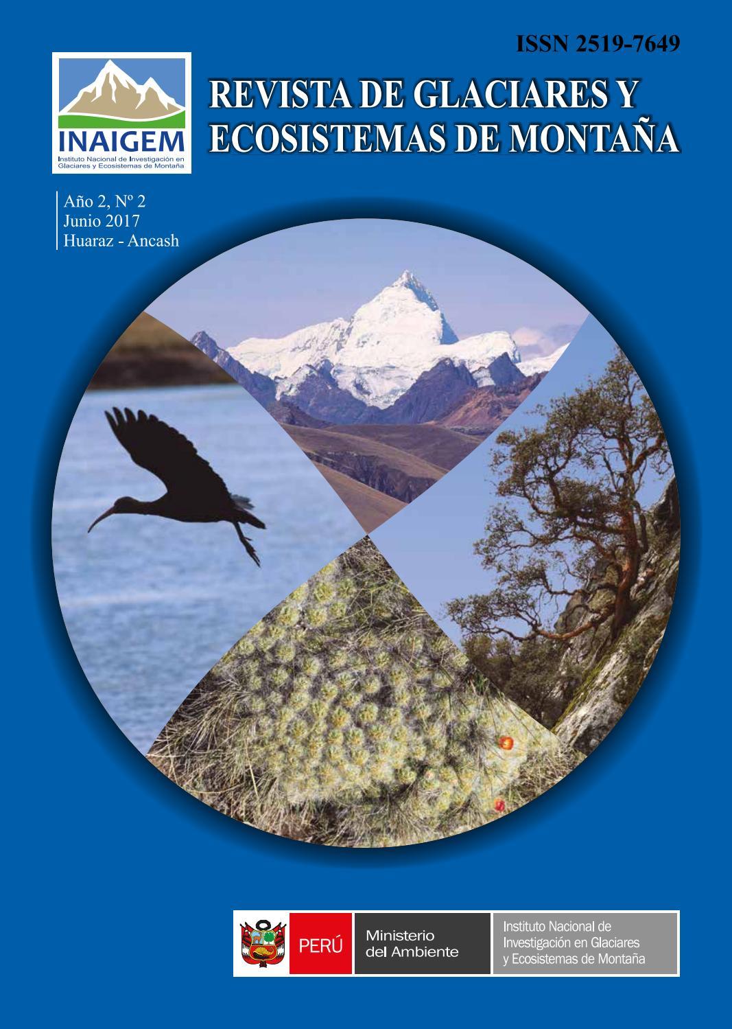 Revista de Glaciares y Ecosistemas de Montaña N° 2 by INAIGEM - issuu