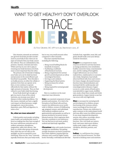 Page 26 of Want to be healthy? Don't overlook trace minerals