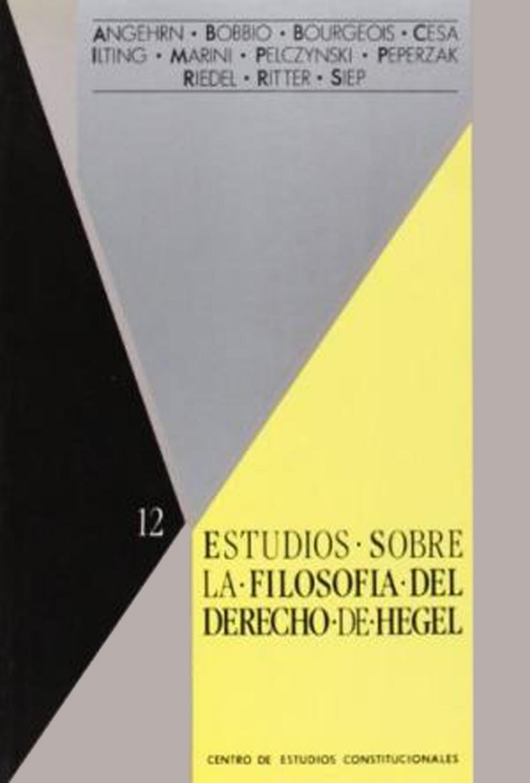 Estudios Sobre La Filosofia Del Derecho De Hegel Gabriel Amengual By Txavo Hesiaren Issuu