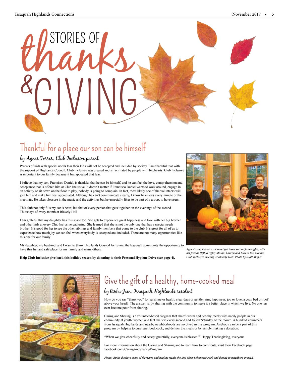 November 2017 by Issaquah Highlands Connections - issuu