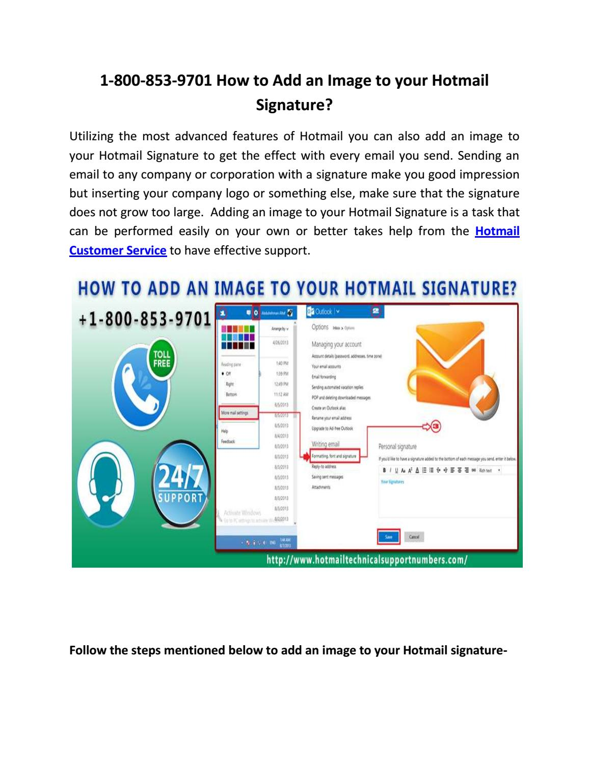 how to change signature in hotmail