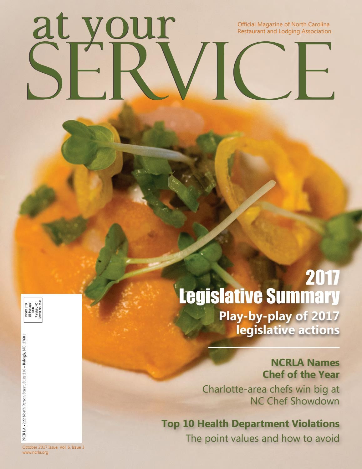 At Your Service, Fall 2017 by NC Restaurant & Lodging