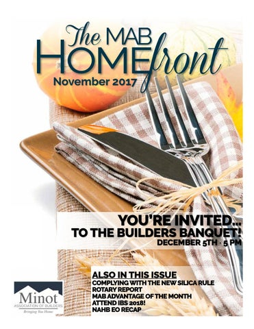 MAB November Newsletter by Minot Association of Builders - issuu