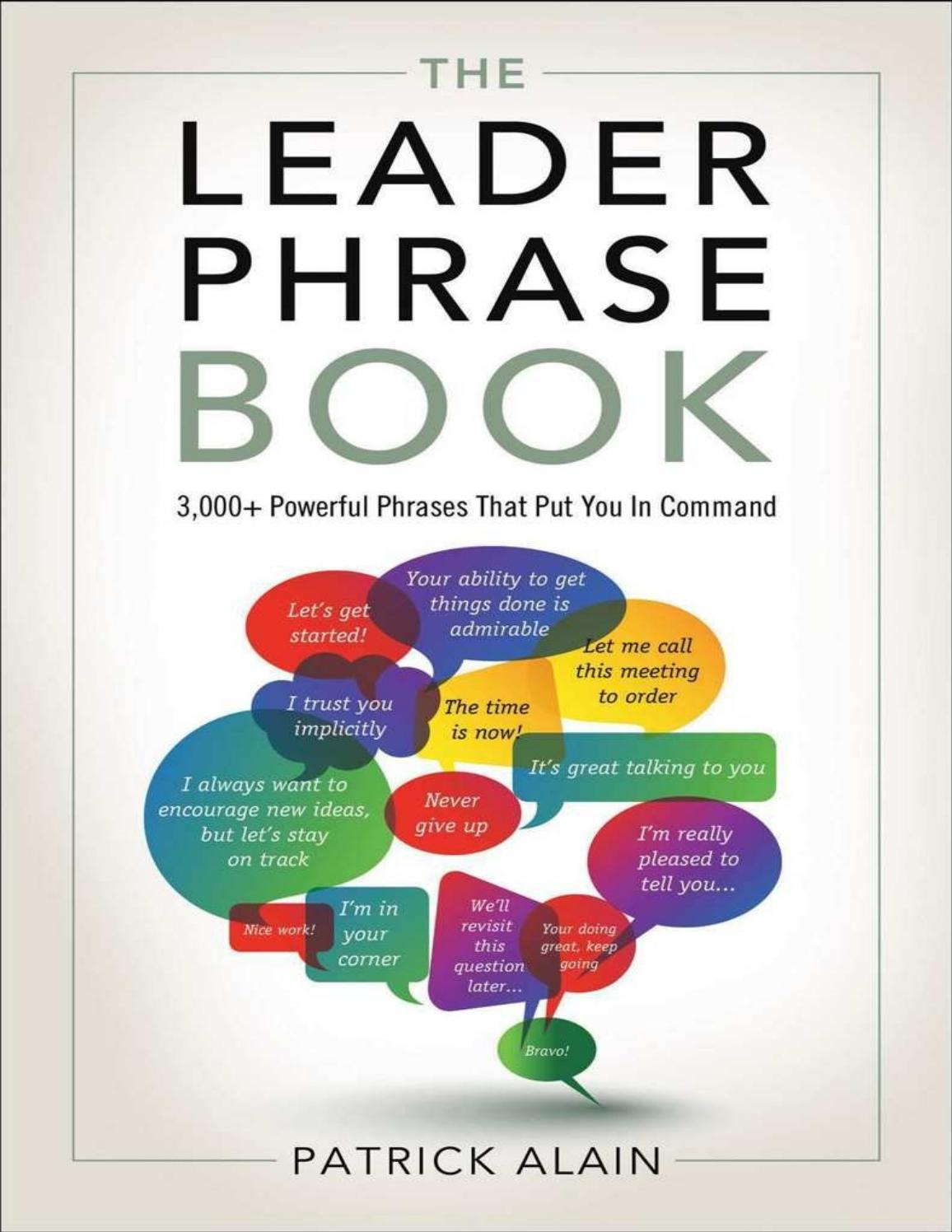 The leader phrase book 3000 powerful phrases that by