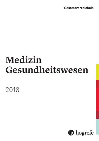 Gesamtverzeichnis 2018 - Medizin Gesundheitswesen by Hogrefe - issuu