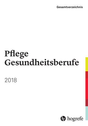 Gesamtverzeichnis 2018 - Pflege Gesundheitsberufe by Hogrefe - issuu