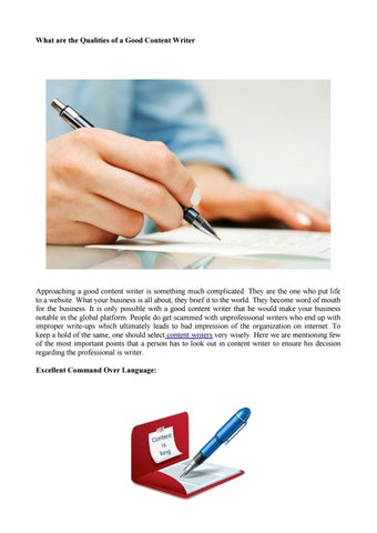 what are the qualities of a good content writer by monika agarwal
