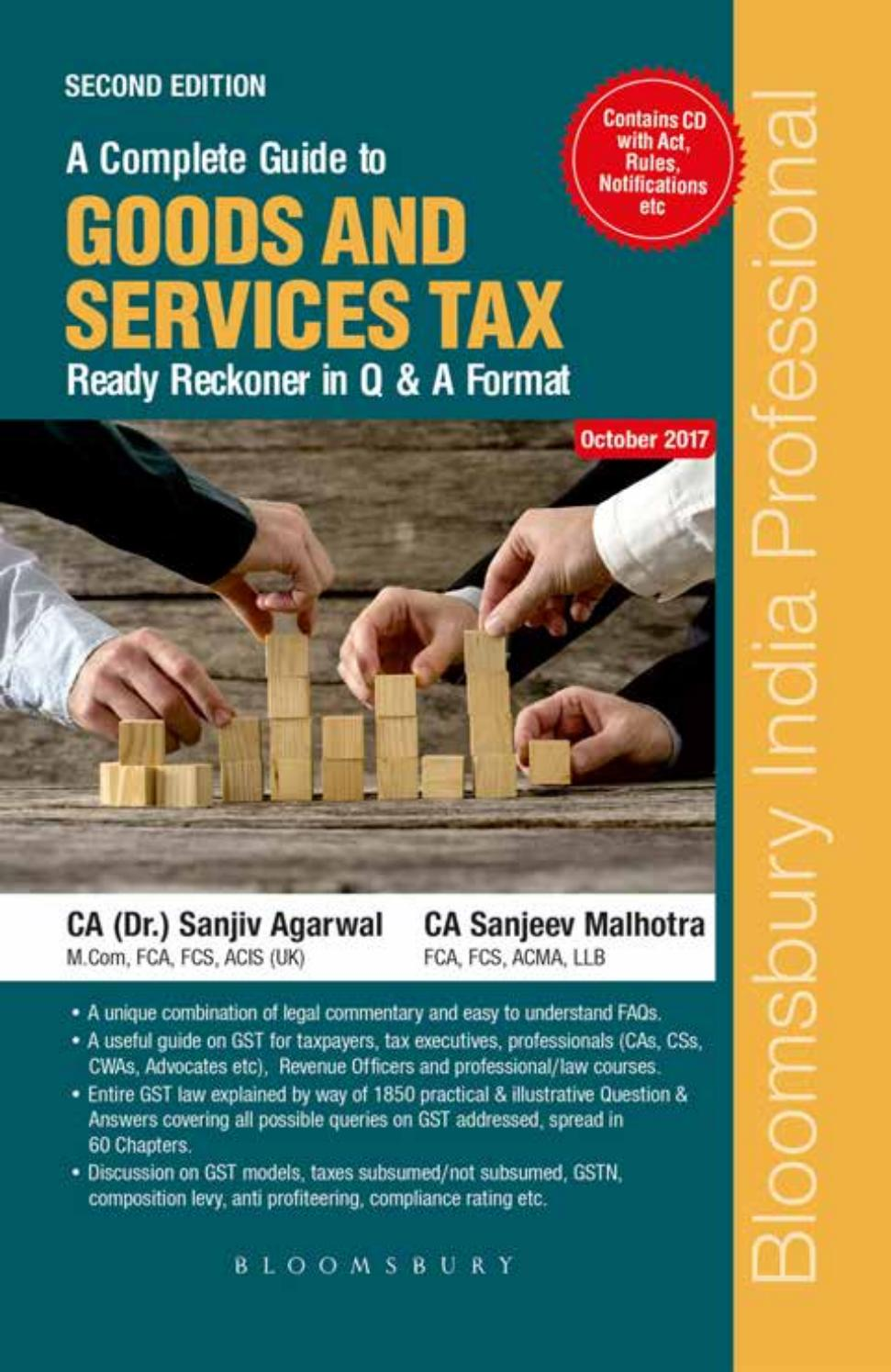 A Complete Guide To Goods And Services Tax Ready Reckoner In Q Format Second Edition By Bloomsbury India Professional