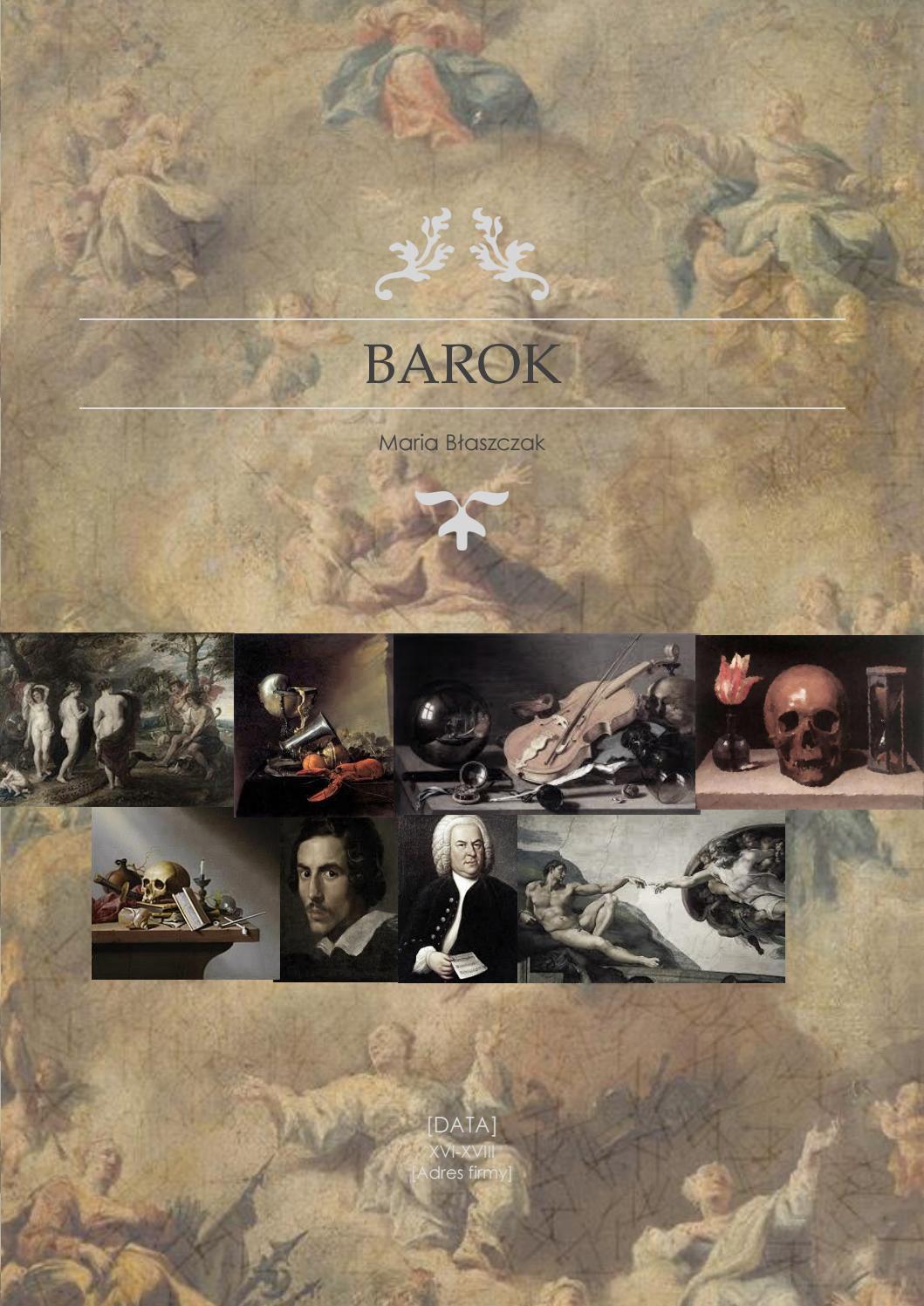 Barok Marysia Blaszczak By Mariablaszczak Issuu