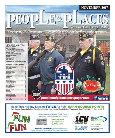 November 2017 People & Places Newspaper by Jennifer Creative