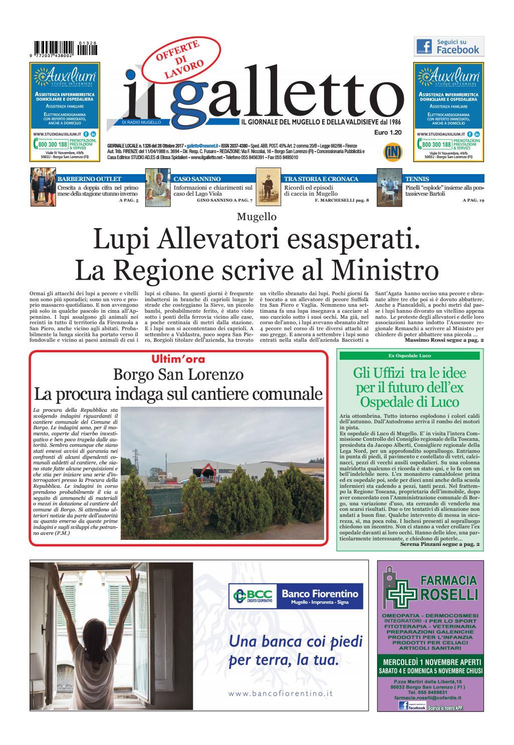 Galletto 1326 del 28 ottobre by Il Galletto Giornale - issuu 59b1c5293419