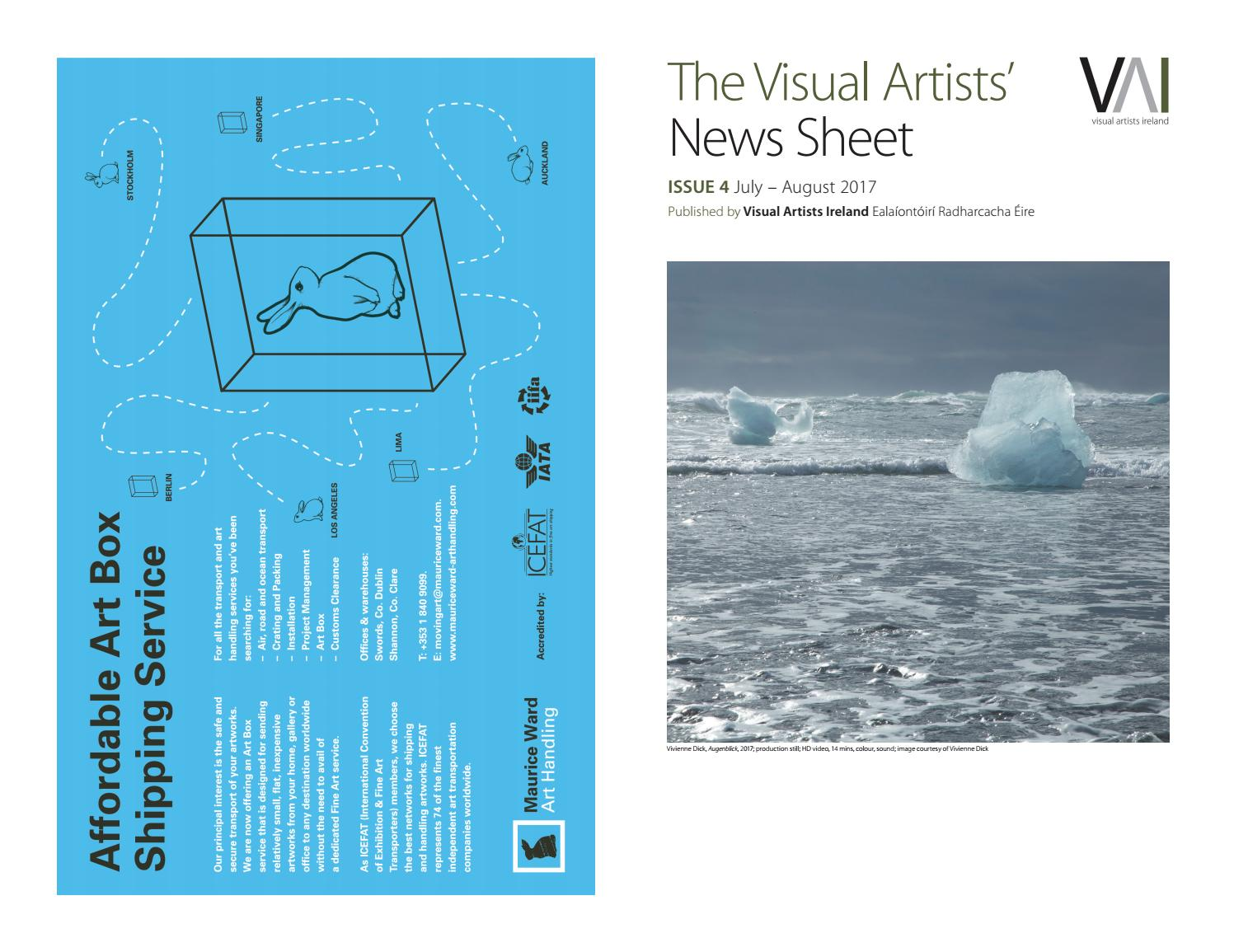 Visual Artists' News Sheet 2017 – July August by ...