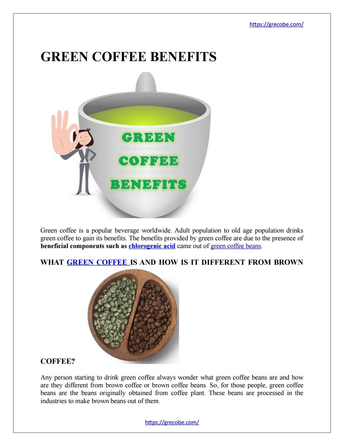 Green Coffee Benefits By Furocyst1 Issuu
