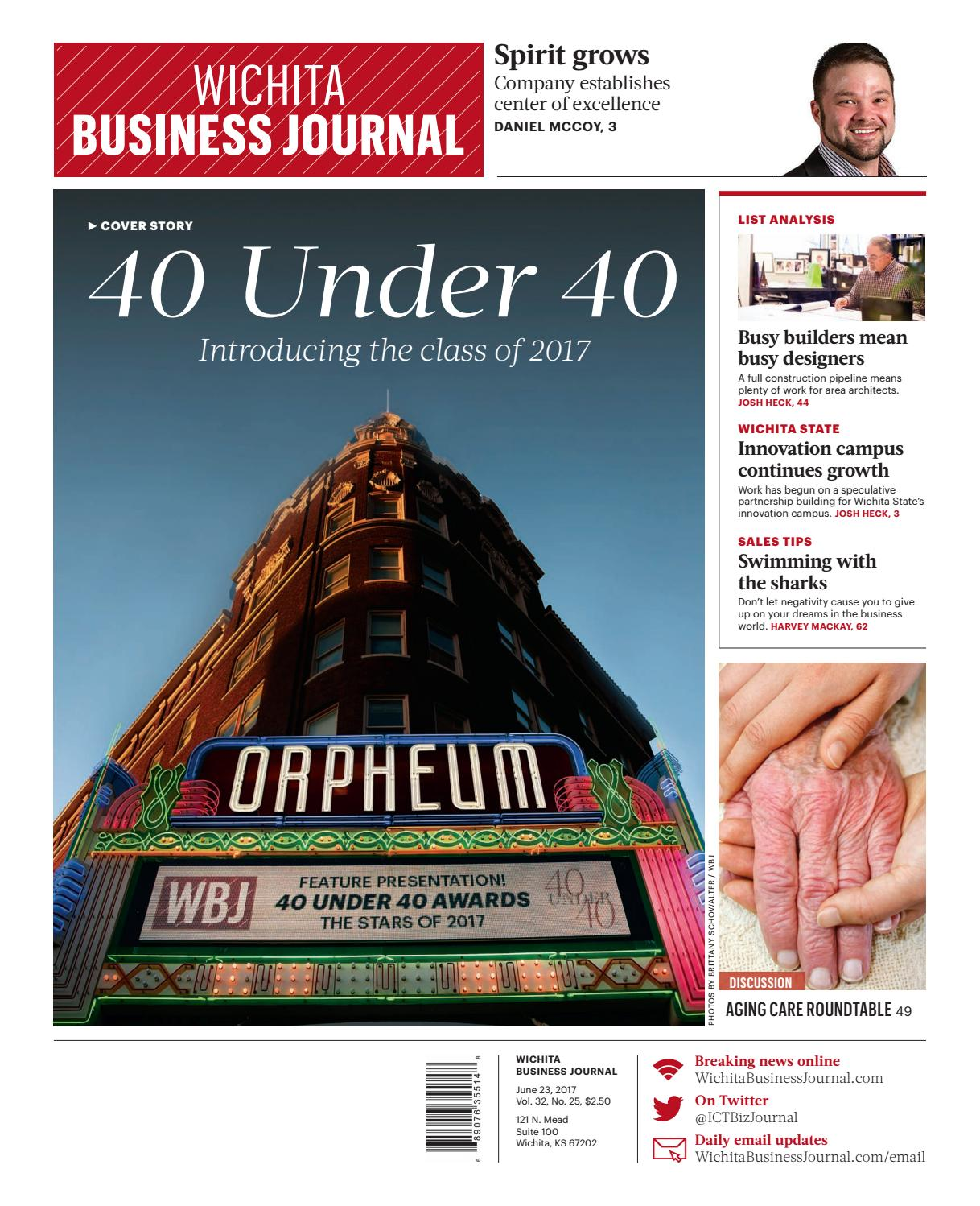 2018 Wichita Business Journal Special Section 40 Under 401 By Bill Compact Redstone 5clock With On Off Switch Roy Issuu