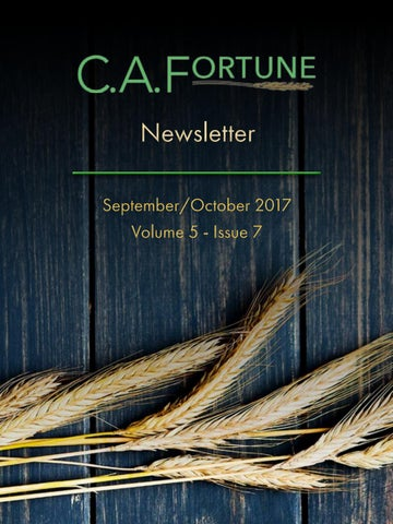C A  Fortune Newsletter- September/October 2017 by C A  Fortune - issuu
