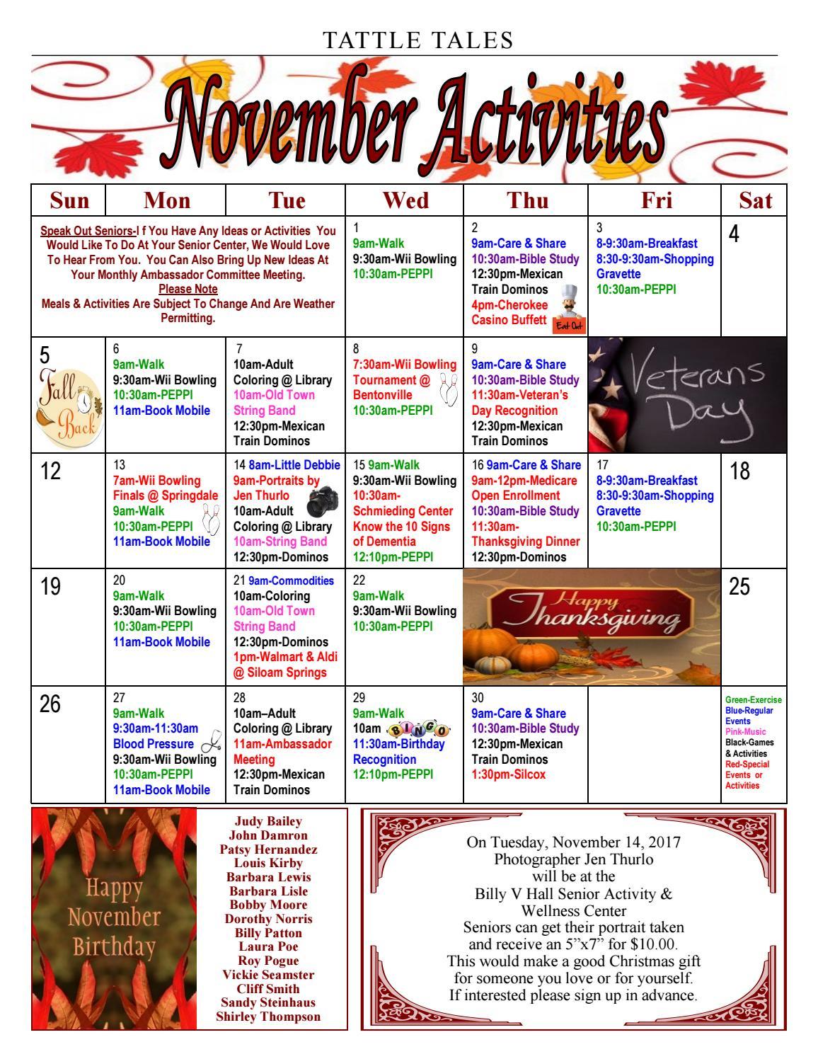 billy-v-hall-senior-activity-wellness-center-newsletter-november ...
