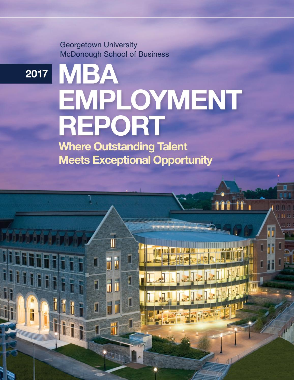 2017 MBA Employment Report by Georgetown University ...