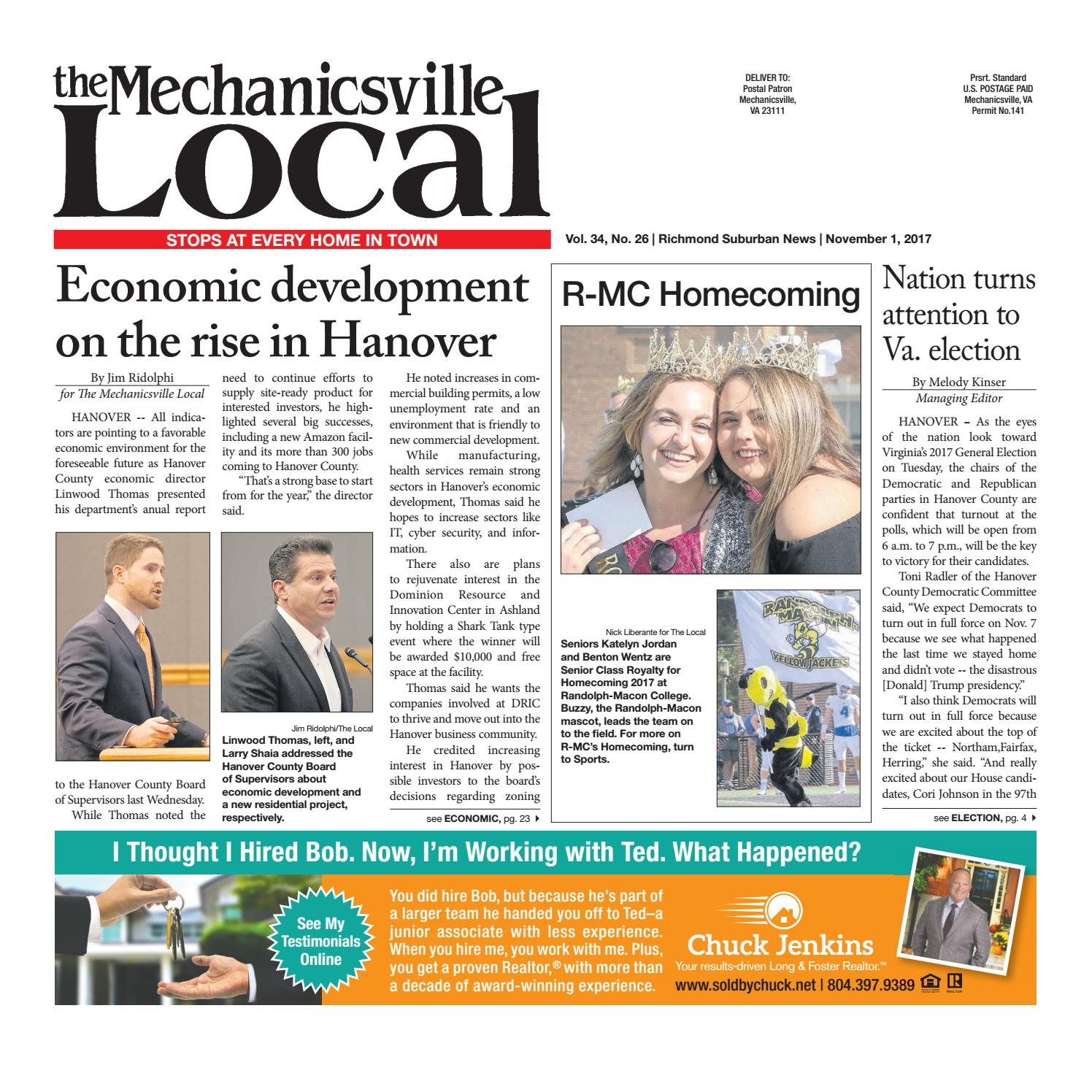 11/01/17 by The Mechanicsville Local - issuu